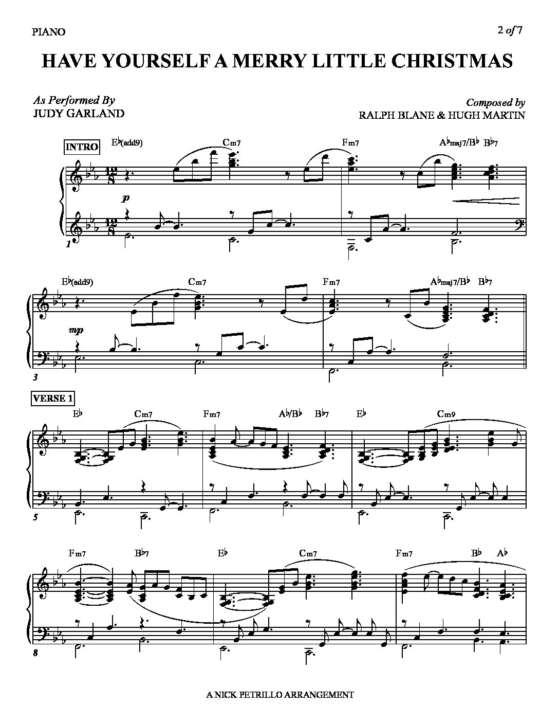 Have Yourself A Merry Little Christmas Lead Sheet.Have Yourself A Merry Little Christmas