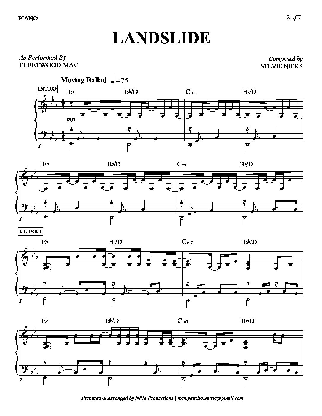 Have Yourself A Merry Little Christmas Lead Sheet.Landslide